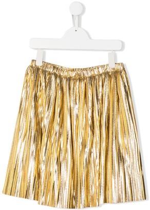 Le Gemelline By Feleppa gathered detail metallic-sheen skirt