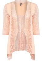 Dorothy Perkins Womens *Izabel London Pink Fishnet Cardigan- Pink