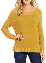 Roxy Lost Coastlines Reversible Open-Neck Sweater