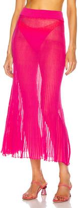 Jacquemus La Jupe Helado Longue in Pink   FWRD
