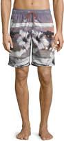 Bugatchi Tropical Sunset Swim Shorts