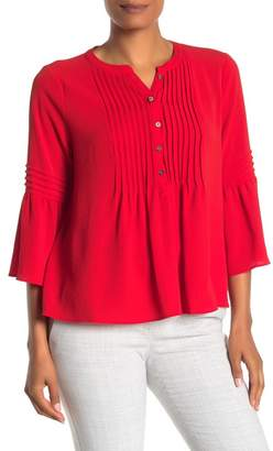 Cynthia Steffe CeCe by Ruffle Sleeve Pintuck Top
