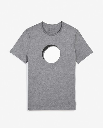 Express Gray Eclipse Graphic T-Shirt