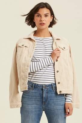 Fat Face Womens FatFace Natural Tanya Cord Jacket - Natural