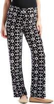 Glam Black & White Abstract Straight-Leg Maternity Pants