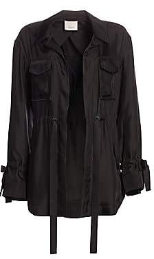Cinq à Sept Women's Mathieu Twill Drawstring Waist Jacket