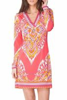 Hale Bob Chiyo Jersey-Plunge Dress