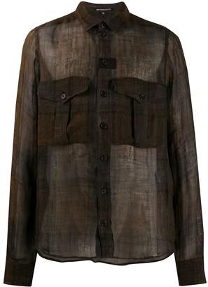 Ann Demeulemeester Sheer Pocket Shirt