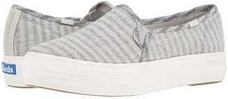 Keds Triple Decker Subtle Chambray Stripe (Light Gray) Women's Shoes