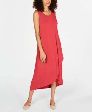 Alfani Petite Solid Tulip-Hem Dress, Created for Macy's