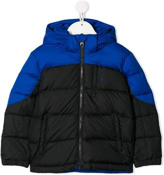 Ralph Lauren Kids colour block padded jacket