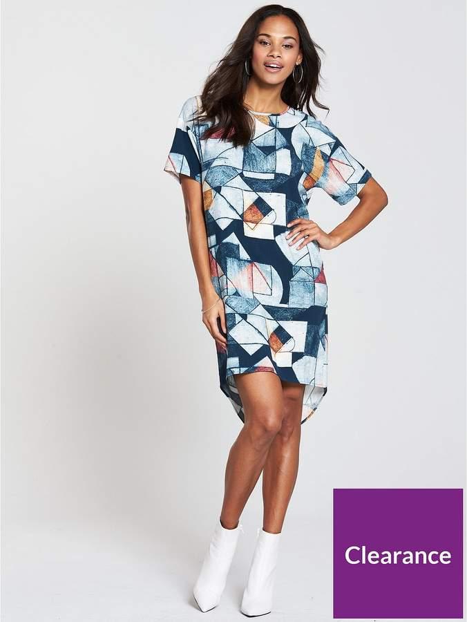 NATIVE YOUTH Relaxed T-shirt Printed Dress - Indigo
