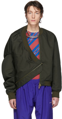 Y/Project Green Upside Down Bomber Jacket