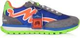 Marc Jacobs The Jogger Tangerine & Blue Nylon Womens Sneakers