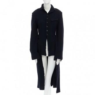 Comme des Garcons Blue Wool Coats