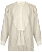 Nili Lotan Greenwich sheer striped cotton blouse