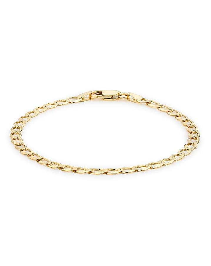 Fashion World 9ct Gold 9 inch Curb Bracelet