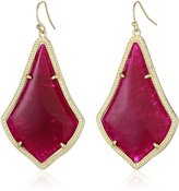 Kendra Scott Gold and Maroon Jade Alexandra Drop Earrings