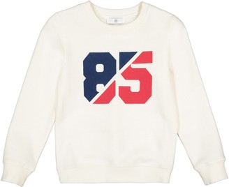 La Redoute Collections Cotton Mix Printed Sweatshirt with Crew-Neck, 3-12 Years