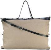 Saint Laurent large ID convertible bag - men - Cotton/Leather - One Size