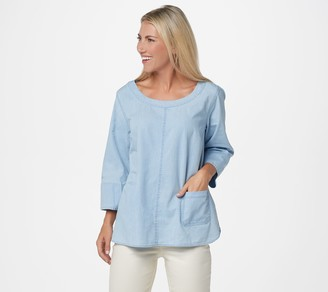 Joan Rivers Classics Collection Joan Rivers Lightweight Denim Top