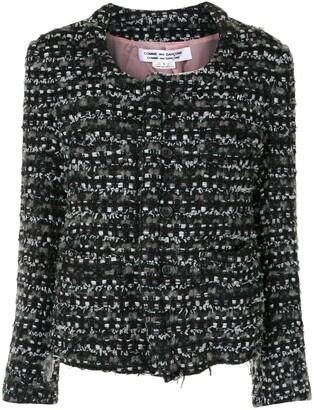 Comme des Garçons Comme des Garçons Round-Neck Knit Jacket