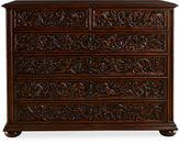 Modern History Carved Flemish Dresser, Auburn