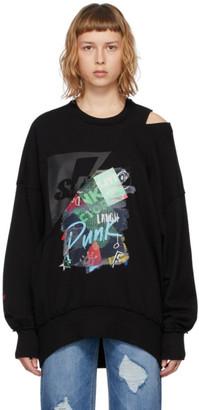 Sjyp Black Collage Cutout Sweatshirt