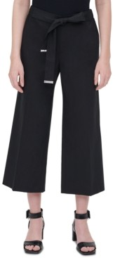 Calvin Klein Plus Size Tie-Waist Cropped Pants