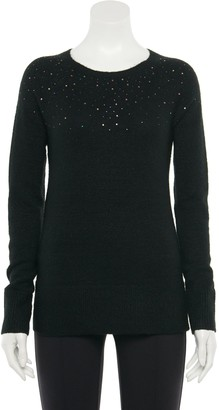 Apt. 9 Petite Embellished Pullover Sweater