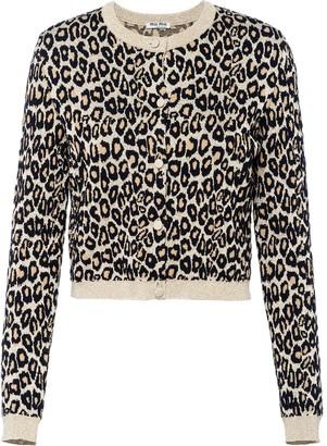 Miu Miu Leopard Print Cardigan