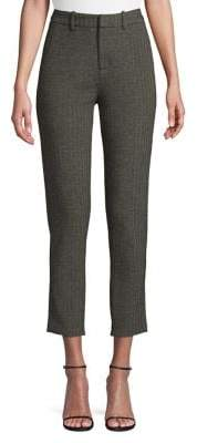 Lord & Taylor Striped Cotton-Blend Cropped Pants