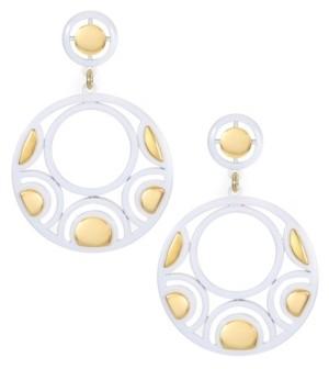 Trifari 14K Gold-Plated Post Drop Earrings