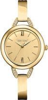 JCPenney CARAVELLE, NEW YORK Caravelle New York Womens Champagne Dial & Gold-Tone Bangle Watch 44L129