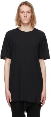 Boris Bidjan Saberi Black Rib Knit Resin-Dyed One Piece T-Shirt