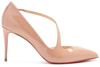 Christian Louboutin Jumping 85 Patent-leather Pumps - Womens - Nude