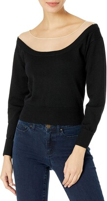 ASTR the Label Women's Briana Off The Shoulder Long Sleeve Knit Sweater