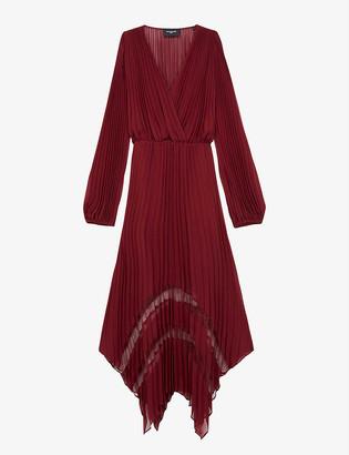 The Kooples Pleated crepe maxi dress