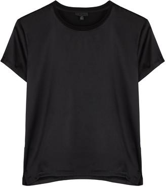 ATM Anthony Thomas Melillo Black Stretch-silk T-shirt