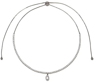 As 29 18k black gold pear diamond Indiana choker necklace