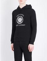 Saint Laurent University-print cotton-jersey hoody