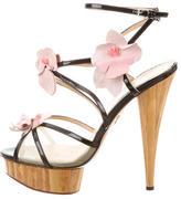 Charlotte Olympia Floral-Embellished Cage Sandals