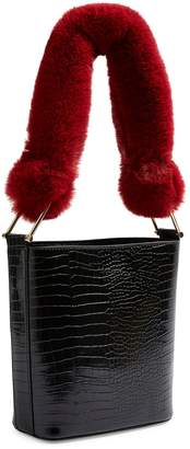 Topshop Tess Faux Fur Handle Tote Bag