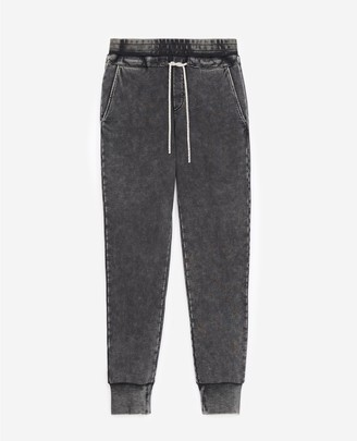The Kooples Faded grey joggers with rhinestone detail