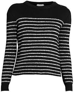 Saint Laurent Women's Lurex Stripe Knit