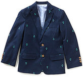 Class Club Big Boys 8-20 Schifli Anchor-Embroidered Blazer