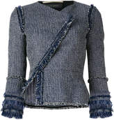Roland Mouret denim frayed jacket