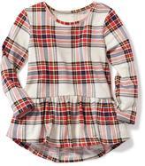 Old Navy Plaid Peplum-Hem Tunic for Toddler