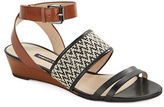 French Connection Wiley Leather Wedge Sandals