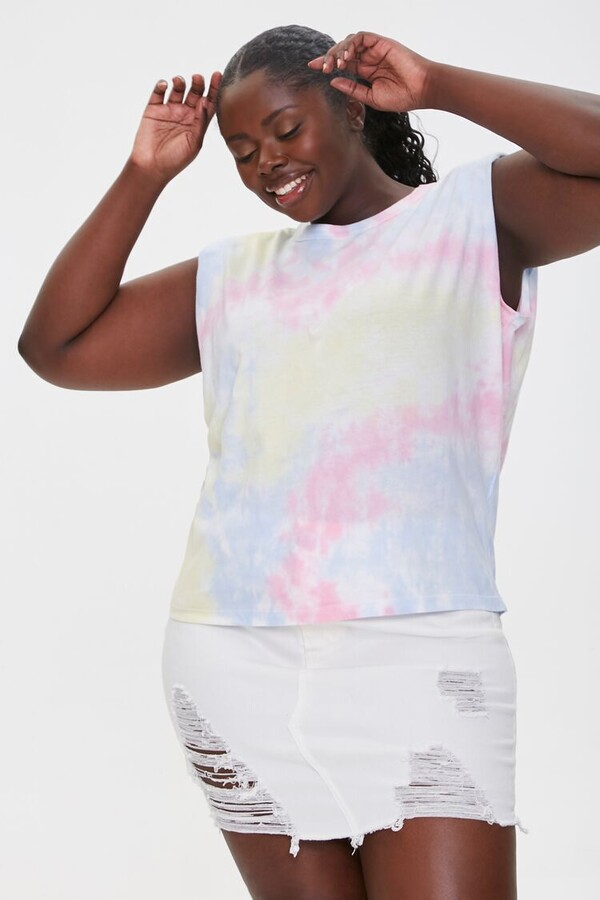 Thumbnail for your product : Forever 21 Padded Tie-Dye Muscle Tee